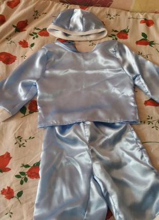 """Новогодний костюм для мальчика в детский сад """"Снежок"""""""