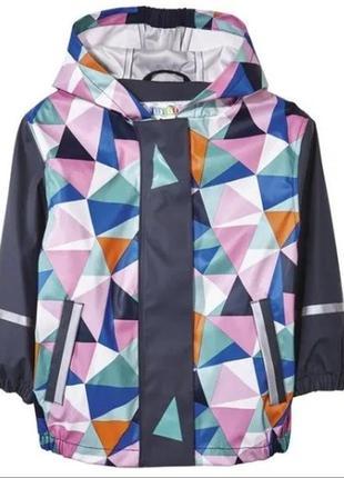 Непромокаемая куртка дождевик грязепруф без флиса lupilu