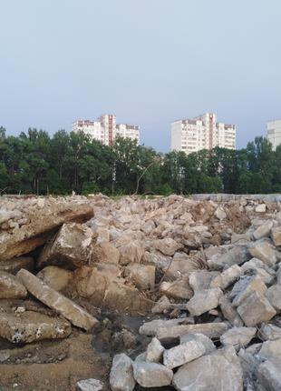 ПРИНИМАЕМ бетонные отходы, железобетон,