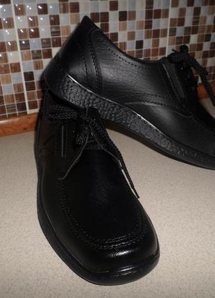 Мужские качественные туфли на шнурках. Чёрные туфли на любую полн