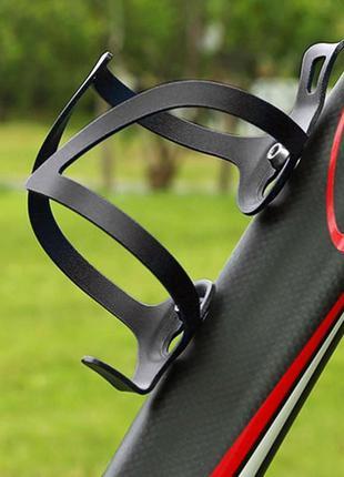 Флягодержатель чёрный алюминиевый держатель для бутылки велосипед