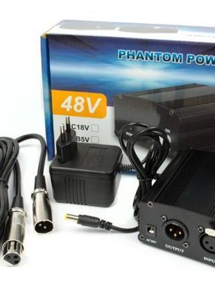 КОМПЛЕКТ: Фантомное питание на 48V + XLR-XLR кабель, 3 метра