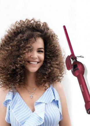 Плойка для завивки волос афрокудри Kemei KM-1023 9 мм LED дисплей