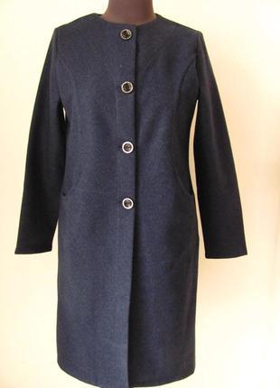 Пальто кашемировое демисезонное.современный силуэт стильного п...