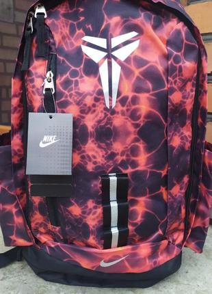 Баскетбольный рюкзак с отделом для мяча nike kobe red
