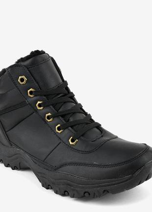 Чорні утеплені чоловічі черевики-трапери gt-9578-1