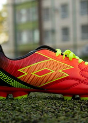 Бутсы Lotto SPIDER XII FGT футбольная обувь копы шипы