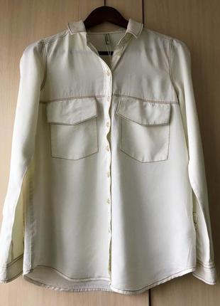 Трендовая джинсовая рубашка из лиоцелла stradivarius / s