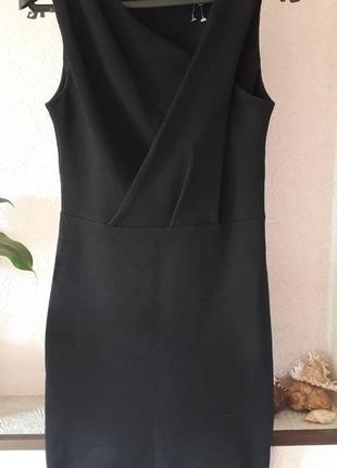 Женское черное платье футляр нарядное вечернее фактурное демис...