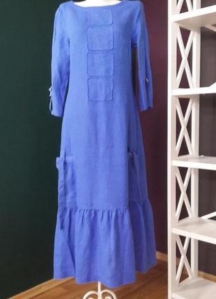 Льняное платье в стиле бохо season