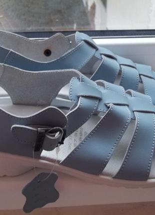 Ортопедические босоножки кожаные free step by grosby англия (4...