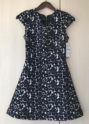 Платье zara / xs / леопардовый принт