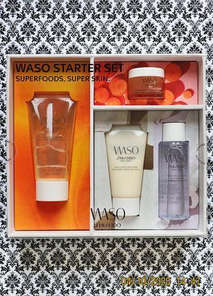 Набор по уходу за кожей shiseido waso superfoods : 4 средства