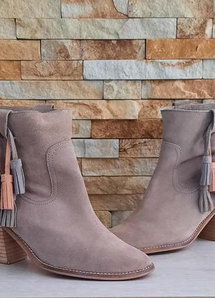Ботинки от catwalk натуральный замш размер 39