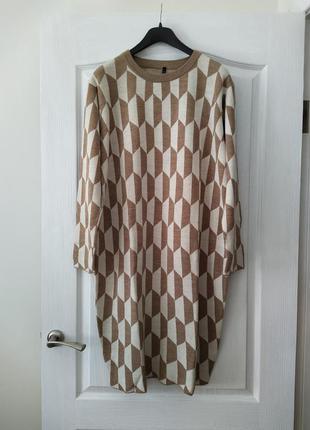 Трикотажное платье миди Benetton