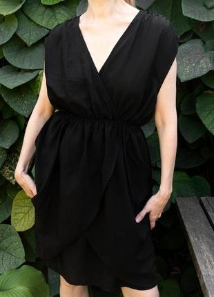Легкое черное платье h&m