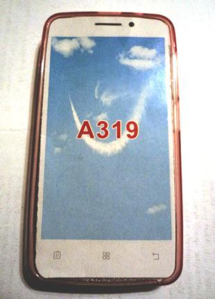 Чехол для Lenovo A319 (розовый)