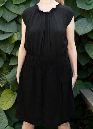 Черное летнее платье zara