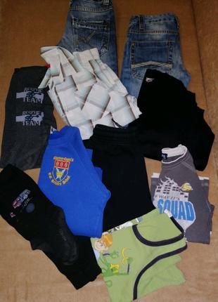 Пакет вещей на мальчика 8-9 лет, вещи пакетом на рост 128-134 см