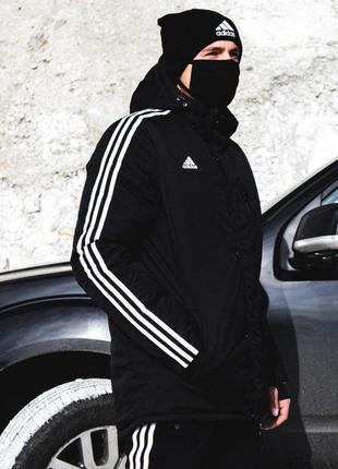 Зимняя мужская парка adidas originals черная