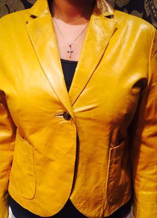 Куртка пиджак из натуральной кожи Roberto cavalli