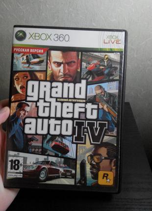 Игра GTA 4 диск Xbox 360 game Grand Theft Auto IV Rus LT 3.0