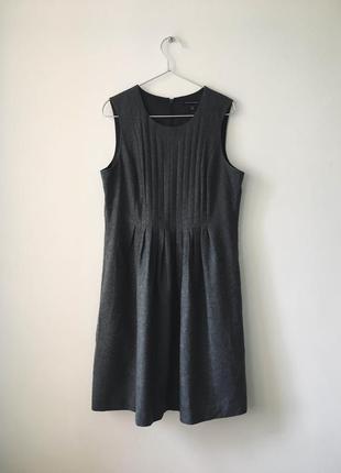 Платье из натуральной шерсти banana republic шерстяное серое п...