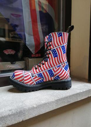 Steel ботинки берцы сапоги осень готы панки хиппи стилы