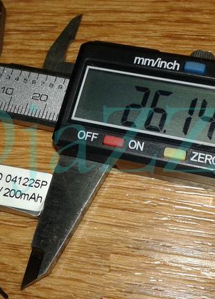 Аккумулятор для блютуз гарнитур размер 26.14-12.55-4.96мм 200mAh