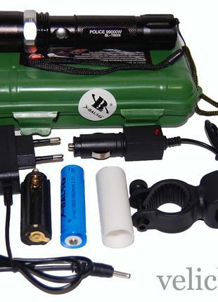 Фонарик аккумуляторный POLICE BL-T8628 99000 W с креплением