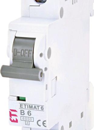 Автоматичний вимикач ETI типу ETIMAT6 на 6 Ампер.