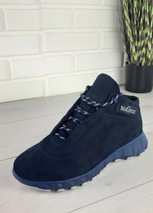 Мужские ботинки зимние из натуральной замша(40-45)
