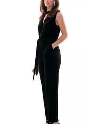 Шикарный комбинезон комбез штаны бархатный черный размер м 10