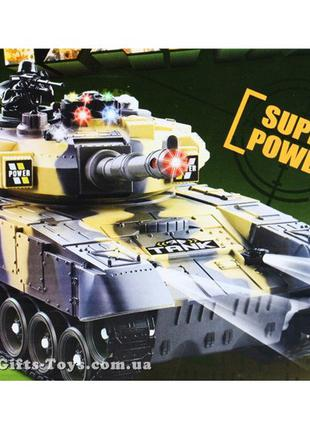 Большой Танк на радиоуправлении Abrams, с функцией Танковый Бой.