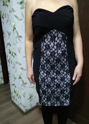 Платье чулок кружево гепюр черное