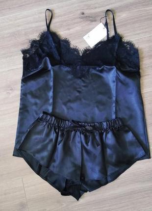Пижама ночнушка комплект майка и шорты домашняя одежда