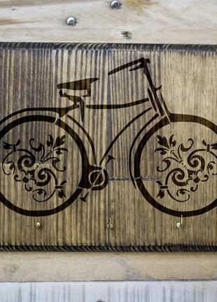 """Настенная ключница """"Велосипед"""" 03 из дерева"""
