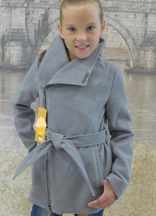 Модное пальтишко кашемир для девочки