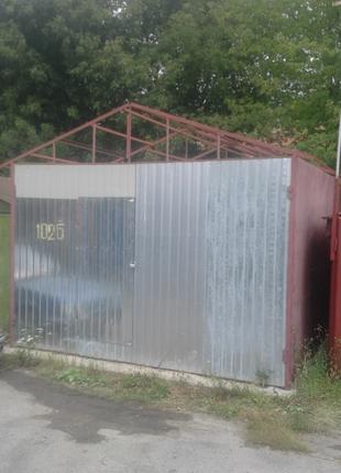 Металлический гараж с местом ГСК-7на Пирогово