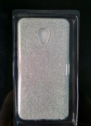 Чехол силиконовый TWINS MEIZU M5 серебристый