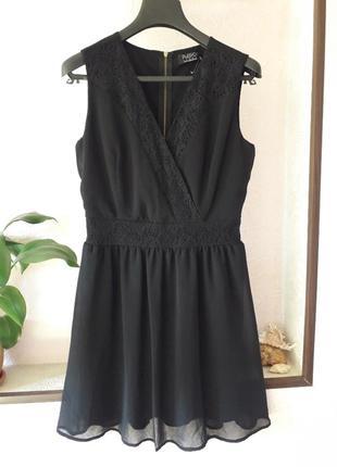 Шифоновое женское вечернее нарядное платье кружевное на запах ...