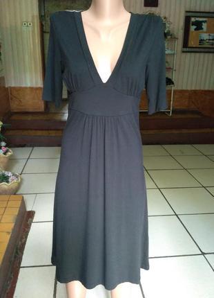 Gap чёрное трикотажное платье из вискозы