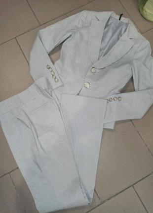 Женский нарядный костюм пиджак+брюки р 40-42