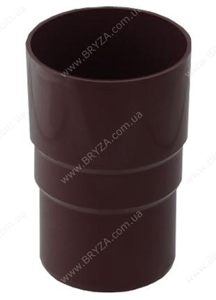 Муфта труби 110 мм BRYZA коричнева