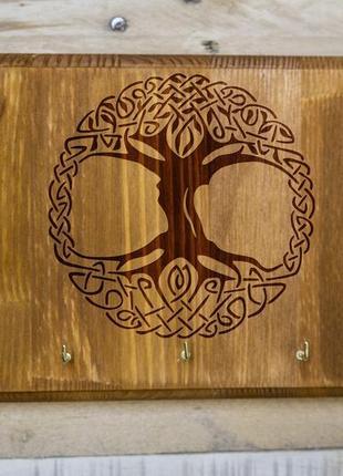 """Настенная ключница """"Дерево жизни"""" 02 из дерева"""