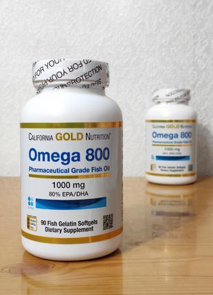 Омега 800, Триглицеридная форма, 1000 мг, 90 капсул