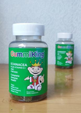 Эхинацея с витамином С и цинком для детей, GummiKing, 60шт
