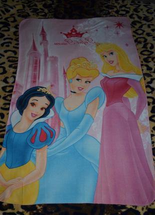 Фирменный мягкий флисовый плед покрывало на кровать принцессы ...