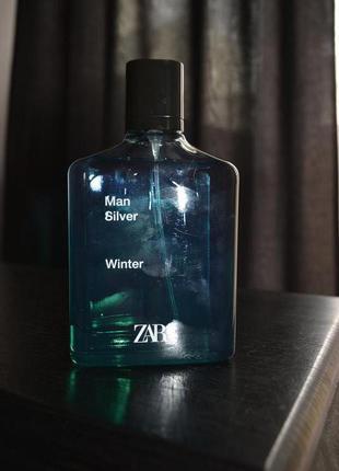 Мужские духи парфюм zara man silver winter 100 ml, оригинал испан