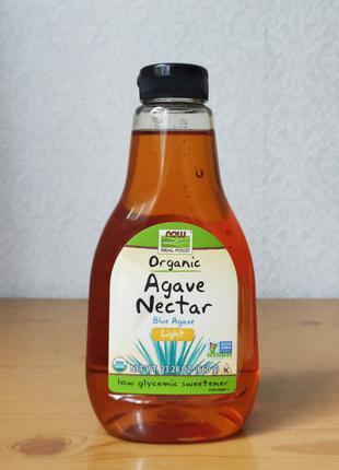 Нектар голубой агавы, органический, легкий, Now Foods, 660 г